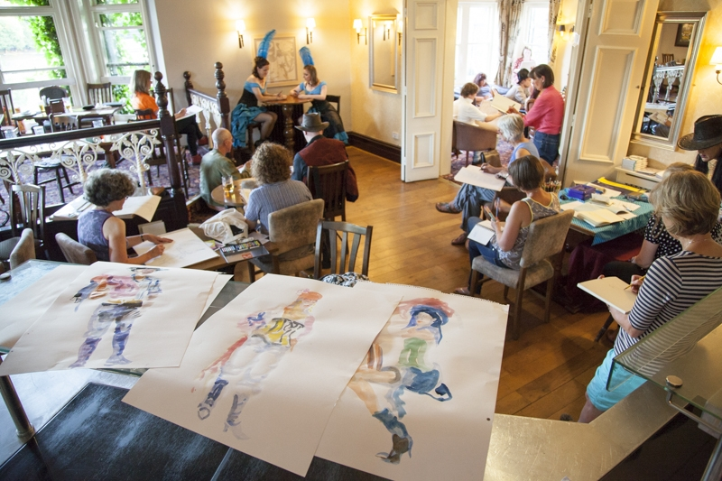Dr Sketchy at the Buxton Fringe